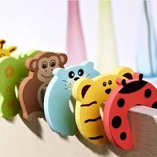 <b>1 PCS Kids</b> Cute Cartoon Animals Door Jammer Child Finger ...