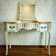 antique white chalk paintVanities  Vintage French Provincial Vanity Painted In Annie Sloan