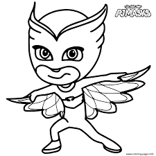Small Picture Colour in Owlette from PJ Masks Coloring pages Printable
