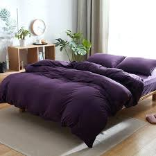 dark purple duvet cover king cotton bedding sets jersey knitted quilt covers soft bed linen euro