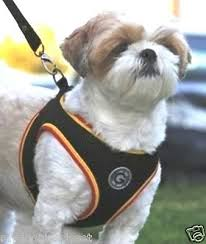 Gooby Jersey Dog Harness Step In Mesh Sports Colors Black