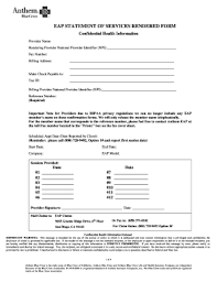 Billing Form Template Anthem Eap Billing Form Fill Out And Sign Printable Pdf Template