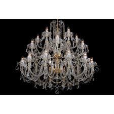 bohemian bcc24sps silver crystal chandelier with swarovski ts 24 light