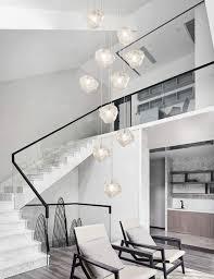 Ceiling Lighting 10 Glas Schatten Treppe Kronleuchter Lange