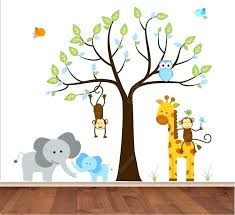 safari wall decals for nursery jungle wall decals jungle wall decal tree with mom and baby