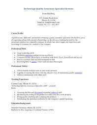 Adorable Quality Control Resume Example On Quality Control