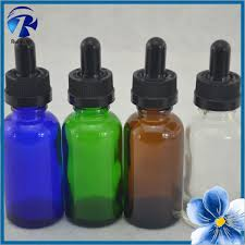 wholesale e juice bottles 100pcs lot amber 30ml boston round glass bottles with