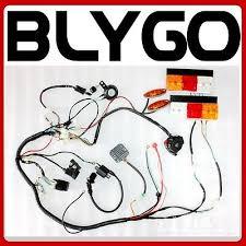 cc buggy io electric start engine wiring harness loom light 150cc 250cc quad bike atv buggy