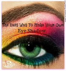 how to make your own eye shadow