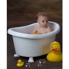 kids bathtub posing prop