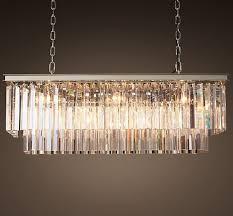 luxury crystal rectangular pendant chandelier