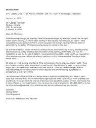 Pharmacy Assistant Cover Letter Sample Pharmacist Cover Letter