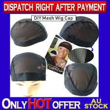 diy mesh wig cap dome style full size perfect fit black breathable stretchable