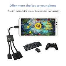 Cáp OTG Type C 3in1 kết nối điện thoại,máy tỉnh bảng,Tay cầm chơi game  chuẩn Type -C -DC3737