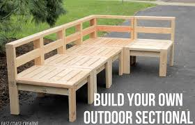 modern patio and furniture medium size wood outside furniture how to build an outdoor sectional knock