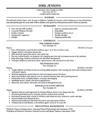 Childcare Resume Nanny resume examples are made for those who are professional with 32