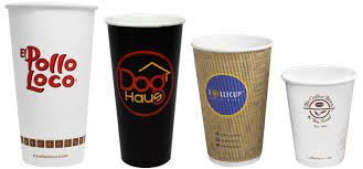 oz small Diposable Coffee Cups Quality Colorful Hot Drinking Paper Cup customized  logo printed Manohar International