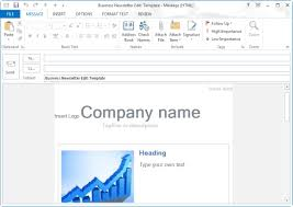 Outlook Templates Free Free Newsletter Templates