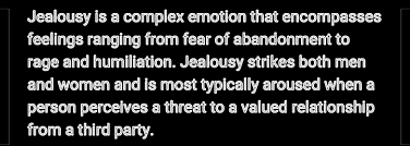 Jealousy A Threat To Yourself Innocuously Yours