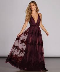 Morgan Formal Flocked Velvet Dress | Windsor