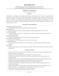 Resume For Personal Assistant Executive Samples Free Download
