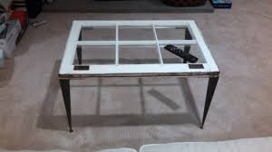 Tapered Coffee Table Legs Window Table With Tapered Angle Iron Legs