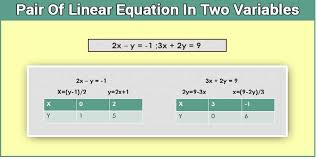 class 10 pair of linear equations in