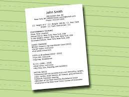 How To Write A Dance Resume With Sample Resume Wikihow