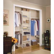 details about vertical closet organizer clothes storage shelf system wood shelves 24 white
