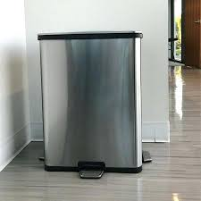 stainless steel kitchen trash can. Stainless Steel Kitchen Trash Can Inside Gallon Step Sensor Plan 6 . O