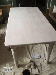 white washed furniture whitewash. Whitewashed Farmhouse Table Before Waterlox Topcoat | Prodigal Pieces Www.prodigalpieces.com White Washed Furniture Whitewash