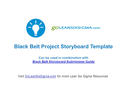 Black Belt Project Storyboard Template Can Be Used In Combination