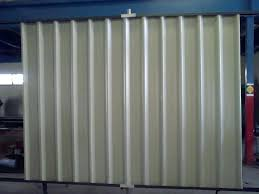 corrugated metal fence for wind
