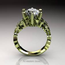 nature inspired 14k green gold 3 ct white