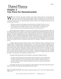 Chapter 2 Two Plans For Reconstruction