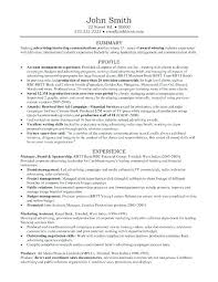 Example Resume Account Executive Format Of Accounts Samples For
