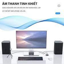 Ổ cắm gắn mặt âm bàn kết nối data gồm USB 3.0, Type C, cổng tai nghe, cổng  Mic, Dan House DESK-2U1C, 5Gb/s, Hàng chính hãng - Adapter sạc - Củ sạc