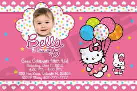 Custom Hello Kitty Birthday Invitations Free Printable