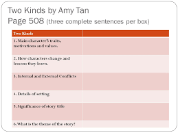 warm up get out your readers writers notebook ppt 5 two kinds by amy tan