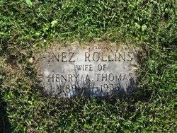 Inez Rollins Thomas (1891-1936) - Find A Grave Memorial