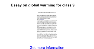 essay on global warming for class google docs