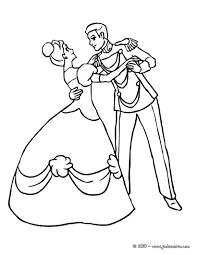 Coloriages La Princesse Et Le Prince Dansent Ensemble Fr