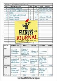 Fitness Journal 2017 Workout Log Food Journal Keep Fit Track