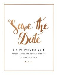 Spring Collection Digital Printing Save The Date