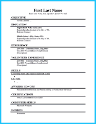 Best Current College Student Resume With No Experience