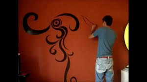 painting on the wallswirls painting on wall  YouTube