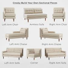 Image Chaise Lounge West Elm Build Your Own Crosby Midcentury Sectional Pieces West Elm