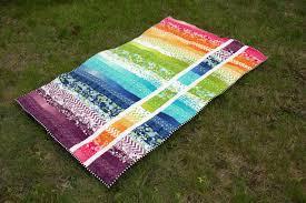 Rainbow jellyroll quilt pattern & Blogger's Quilt Festival Adamdwight.com