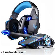 Gaming Headset Stereo Game Headphone with Microphone LED ...