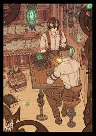 Steampunk AU Sheith. Keith is a prosthetic technician and Shiro is a cop. I